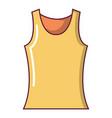 women t shirt icon cartoon style vector image