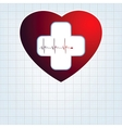Heart medical cross EPS 8 vector image vector image