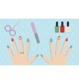 Christmas manicure gel polish vector image
