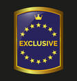 exclusive label vector image