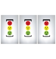 Traffic lights isolated on grey background vector image