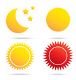 moon sun and star symbol vector image