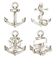 hand drawn anchor vector image vector image
