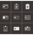 id card icon set vector image