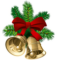 Christmas bells vector image