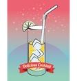 Cocktail bar menu vector image