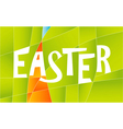 happy easter sign vector image vector image
