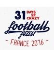 France europe 2016 Football label Soccer overlay vector image