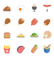 Lines icon set - Western food vector image