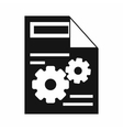Web setting icon simple style vector image