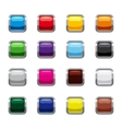 Blank square buttons icons set cartoon style vector image