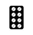 blister pack pills vector image