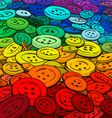 Colorful buttons background cartoon style vector image