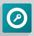flat key icon vector image