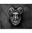Horned Deity Black vector image