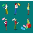 Isometric People Chatting Online vector image