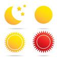 moon sun and star symbol vector image
