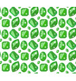 seamless pattern with emeralds in flat style vector image
