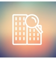 Search building thin line icon vector image