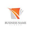 square swirl business logo vector image