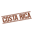 Costa Rica brown square stamp vector image