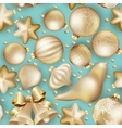 Seamless Christmas baubles EPS 10 vector image