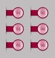 Crimson tabs vector image