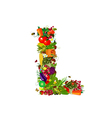LETTER vegetabless L vector image