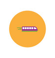stylish icon in color circle high-speed train vector image