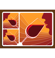Wine tasting collage vector image vector image