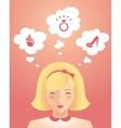 Girl dreams vector image
