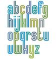 Double line geometric font vector image vector image
