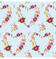 Spring Hearts Flowers Backgrounds vector image