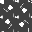 Fishing icon sign Seamless pattern on a gray vector image