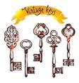 Vintage Sketch Keys vector image