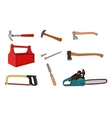 Woodworking tools set vector image