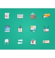 Used goods shop round flat color icons vector image