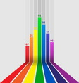 Abstract design element with colorful lines vector image