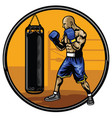 boxing athlete training in the gym vector image