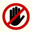 No entry stop hands vector image