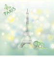 paris sign famous eiffel tower travel france vector image