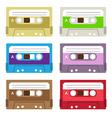 Vintage cassette tapes vector image
