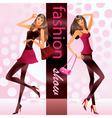 Fashion models represent new clothes at show vector image vector image