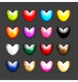 Set of heart shape icons for your design vector image vector image