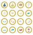 garbage set icon circle vector image