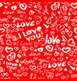 valentines day or wedding seamless pattern with vector image vector image