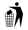 Litter sign vector image vector image