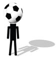 football ball like had of player vector image