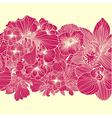 Seamless bright flower border vector image