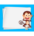 Cartoon Paper Space monkey vector image vector image
